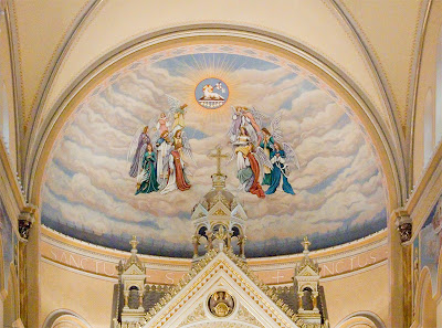 Saint Anthony of Padua Roman Catholic Church, in Saint Louis, Missouri, USA - Painting above the sanctuary