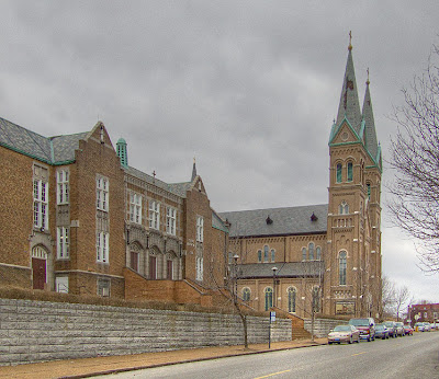 Saint Anthony of Padua Roman Catholic Church and school, in Saint Louis, Missouri - exterior