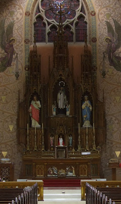 Saint John Nepomuk Roman Catholic Chapel, in Saint Louis, Missouri, USA - altar