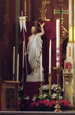 Saint Francis de Sales Roman Catholic Oratory, in Saint Louis, Missouri, USA - statue of Resurrected Christ