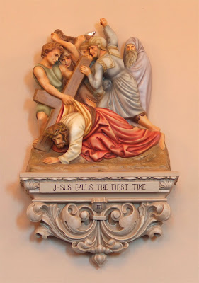 Saint James Roman Catholic Church, in Millstadt, Illinois, USA - station of the cross