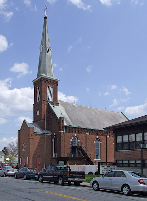 Saint James Roman Catholic Church, in Millstadt, Illinois, USA - exterior