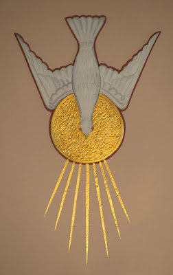 Saint James Roman Catholic Church, in Millstadt, Illinois, USA - symbol of Holy Ghost