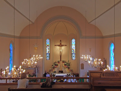 Saint James Roman Catholic Church, in Millstadt, Illinois, USA - nave