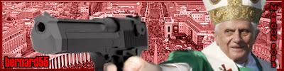 Pope Benedict XVI with semiautomatic handgun
