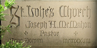 Saint Luke the Evangelist Church, in Richmond Heights, Missouri - cornerstone