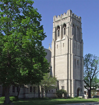 Saint Luke the Evangelist Church, in Richmond Heights, Missouri - exterior view with bell tower