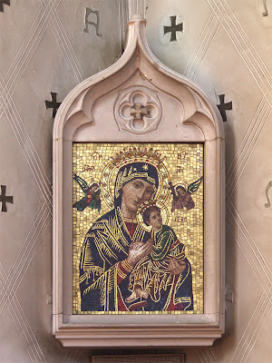 Saint Luke the Evangelist Church, in Richmond Heights, Missouri - mosaic icon of Our Mother of Perpetual Help