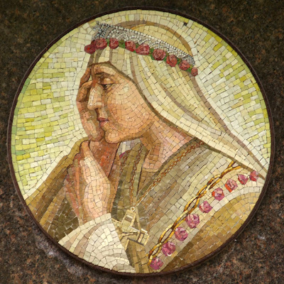 Shrine of Our Lady of Sorrows, in Starkenberg, Missouri, USA - Mosaic of the Blessed Virgin Mary, as Our Lady of Sorrows