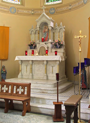 Shrine of Our Lady of Sorrows, in Starkenberg, Missouri, USA - high altar