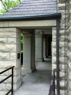 Shrine of Our Lady of Sorrows, in Starkenberg, Missouri, USA - porch