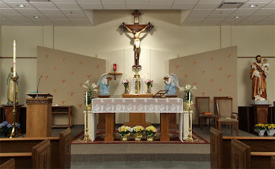 Saint Gianna (temporary) Roman Catholic Church, in Lake Saint Louis, Missouri - altar