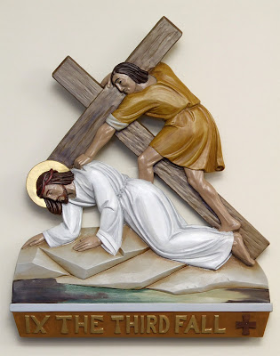 Saint Gianna (temporary) Roman Catholic Church, in Lake Saint Louis, Missouri - station of the cross