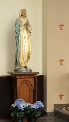 Saint Gianna (temporary) Roman Catholic Church, in Lake Saint Louis, Missouri - statue of the Blessed Virgin Mary