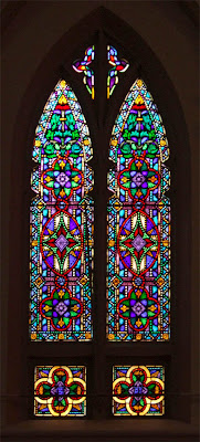 Saint Roch Roman Catholic Church, in Saint Louis, Missouri, USA - stained glass window