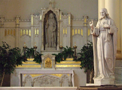 Saint Roch Roman Catholic Church, in Saint Louis, Missouri, USA - altar of Saint Roch