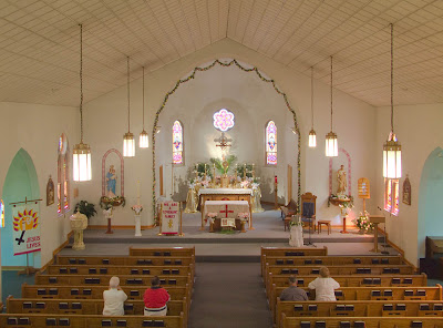 Saint Theodore Roman Catholic Church, in Flint Hill, Missouri, USA - nave