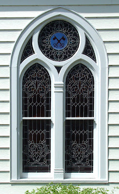 Saint Theodore Roman Catholic Church, in Flint Hill, Missouri, USA - window exterior