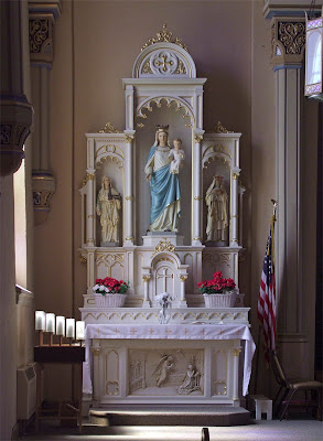 Saint Paul Roman Catholic Church, in Saint Paul, Missouri, USA - altar of the Blessed Virgin Mary