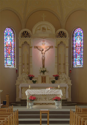 Saint Paul Roman Catholic Church, in Saint Paul, Missouri, USA - high altar