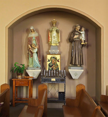 Saint Paul Roman Catholic Church, in Saint Paul, Missouri, USA - devotional niche