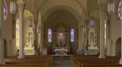 Saint Paul Roman Catholic Church, in Saint Paul, Missouri, USA - Nave