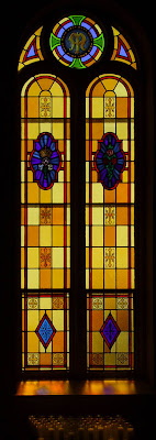 Saint Paul Roman Catholic Church, in Saint Paul, Missouri, USA - Stained glass window