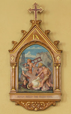 Saint Ann Roman Catholic Church, in Clover Bottom, Missouri, USA - station of the cross