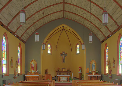 Saint Ann Roman Catholic Church, in Clover Bottom, Missouri, USA - nave