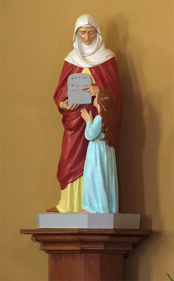 Saint Ann Roman Catholic Church, in Clover Bottom, Missouri, USA - statue of Saint Ann