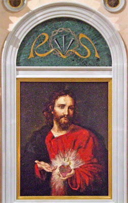 Cathedral Basilica of Saint Louis, in Saint Louis, Missouri, USA - Sacred Heart shrine, mosaic of Jesus