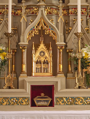 Saint Francis de Sales Oratory, in Saint Louis, Missouri, USA - reliquary of Saint Prosper of Aquitaine