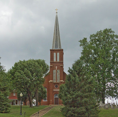 Saint Vincent de Paul Roman Catholic Church, in Dutzow, Missouri, USA - exterior