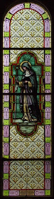 Saint Vincent de Paul Roman Catholic Church, in Dutzow, Missouri, USA - stained glass window