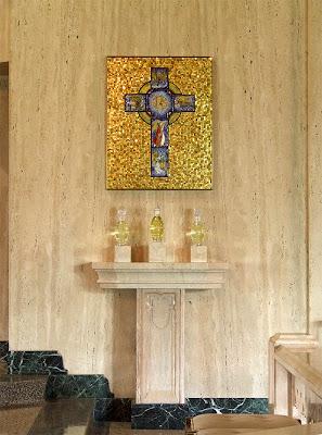 Sainte Genevieve du Bois Roman Catholic Church, in Warson Woods, Missouri, USA - Holy oils