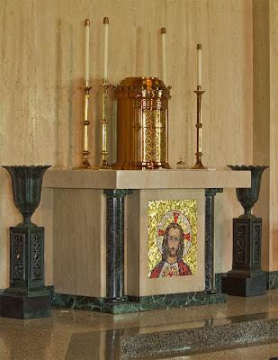 Sainte Genevieve du Bois Roman Catholic Church, in Warson Woods, Missouri, USA - tabernacle