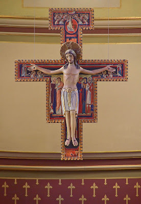 Saint Charles Borromeo Roman Catholic Church, in Saint Charles, Missouri, USA - San Damiano crucifix