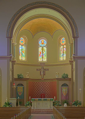 Saint Charles Borromeo Roman Catholic Church, in Saint Charles, Missouri, USA - sanctuary