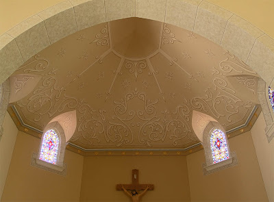 Saint Ignatius of Loyola Roman Catholic Church, in Concord Hill, Missouri, USA - apse