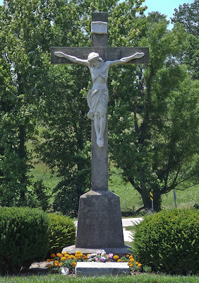 Saint Ignatius of Loyola Roman Catholic Church, in Concord Hill, Missouri, USA - cemetery crucifix