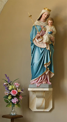 Saint Ignatius of Loyola Roman Catholic Church, in Concord Hill, Missouri, USA - statue of the Blessed Virgin Mary