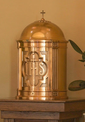 Saint Ignatius of Loyola Roman Catholic Church, in Concord Hill, Missouri, USA - tabernacle