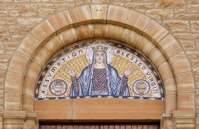 Assumption Roman Catholic Church, in New Haven, Missouri, USA - mosaic of Blessed Virgin Mary