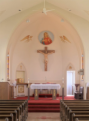 Immaculate Conception Roman Catholic Church, in Augusta, Missouri, USA - sanctuary