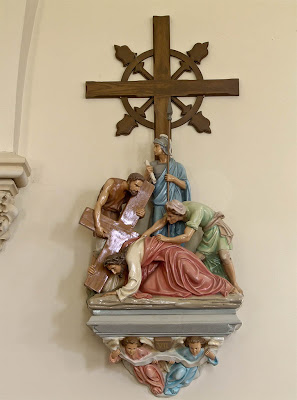Immaculate Conception Roman Catholic Church, in Augusta, Missouri, USA - Station of the Cross