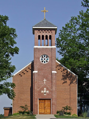 Holy Family Roman Catholic Church, in Port Hudson, Missouri, USA - exterior