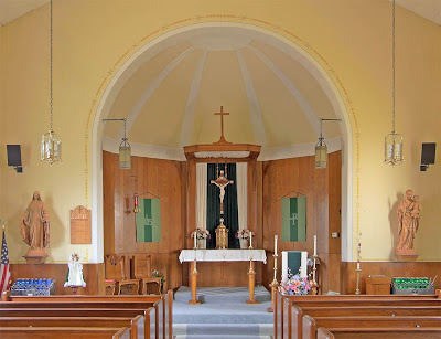 Holy Family Roman Catholic Church, in Port Hudson, Missouri, USA - nave