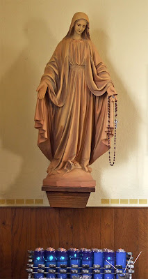 Holy Family Roman Catholic Church, in Port Hudson, Missouri, USA - statue of the Blessed Virgin Mary