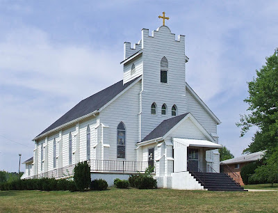 Saint Stephen Roman Catholic Church, in Richwoods, Missouri, USA - exterior