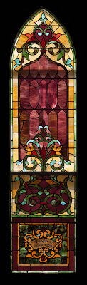 Saint Stephen Roman Catholic Church, in Richwoods, Missouri, USA - stained glass window